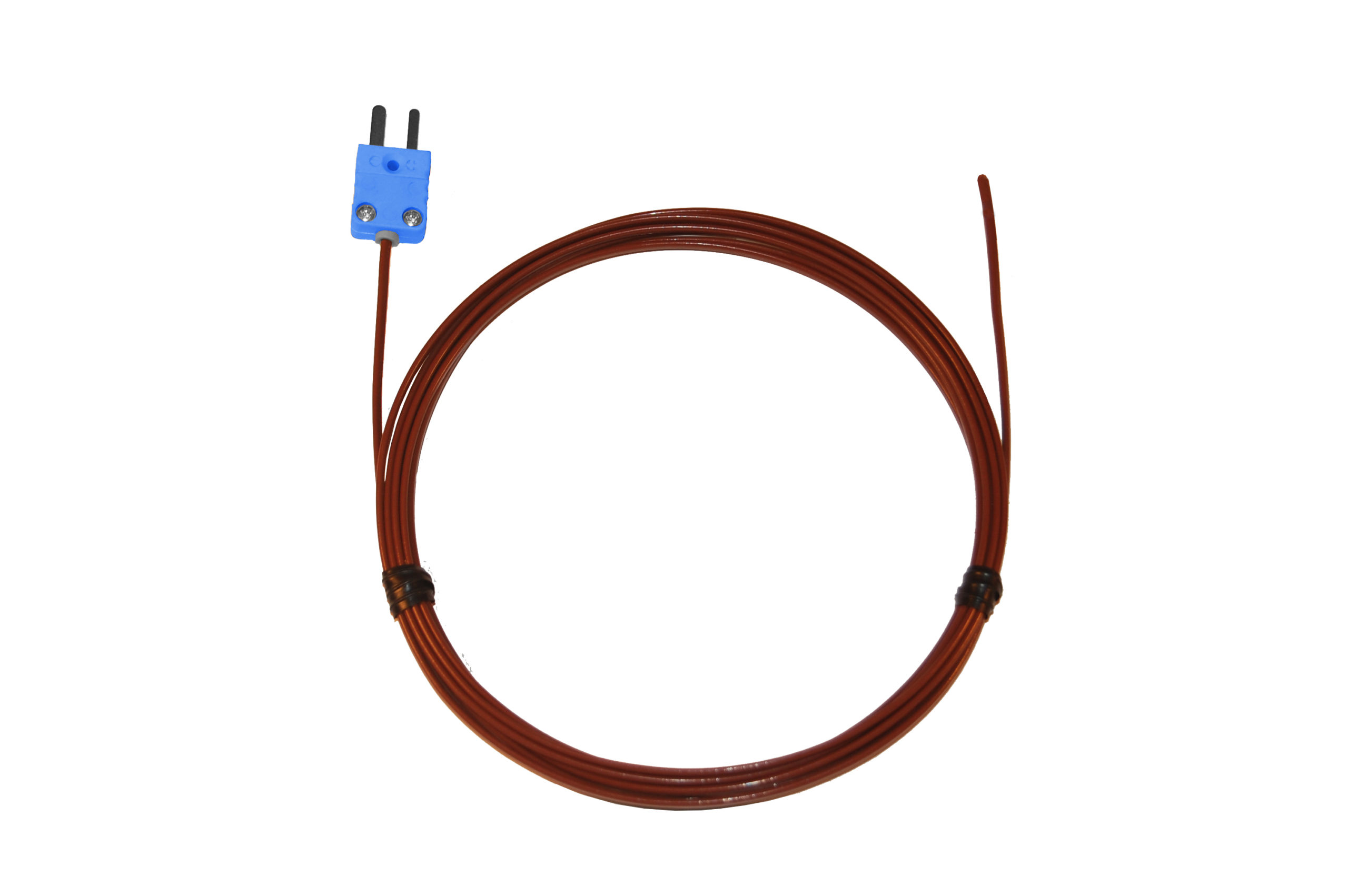 08466-83 Type-T, FEP-Insulated Probe, Coated Junction, Mini-Connector, Ungrounded, 24 -Gauge